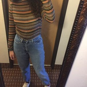 lined mom jeans